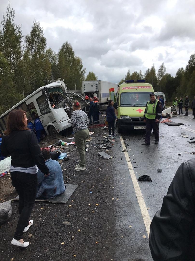 В Ярославской области автобус столкнулся с фурой: 7 человек погибли, более 20 пострадали