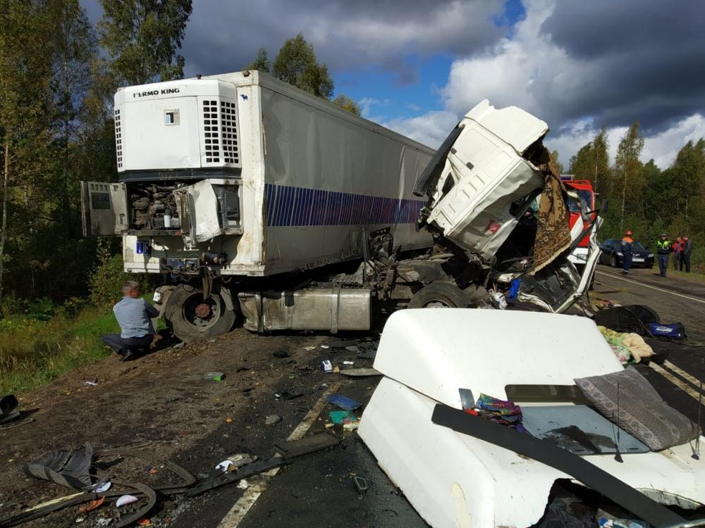 Число жертв аварии с автобусом и фурой в Ярославской области выросло до восьми