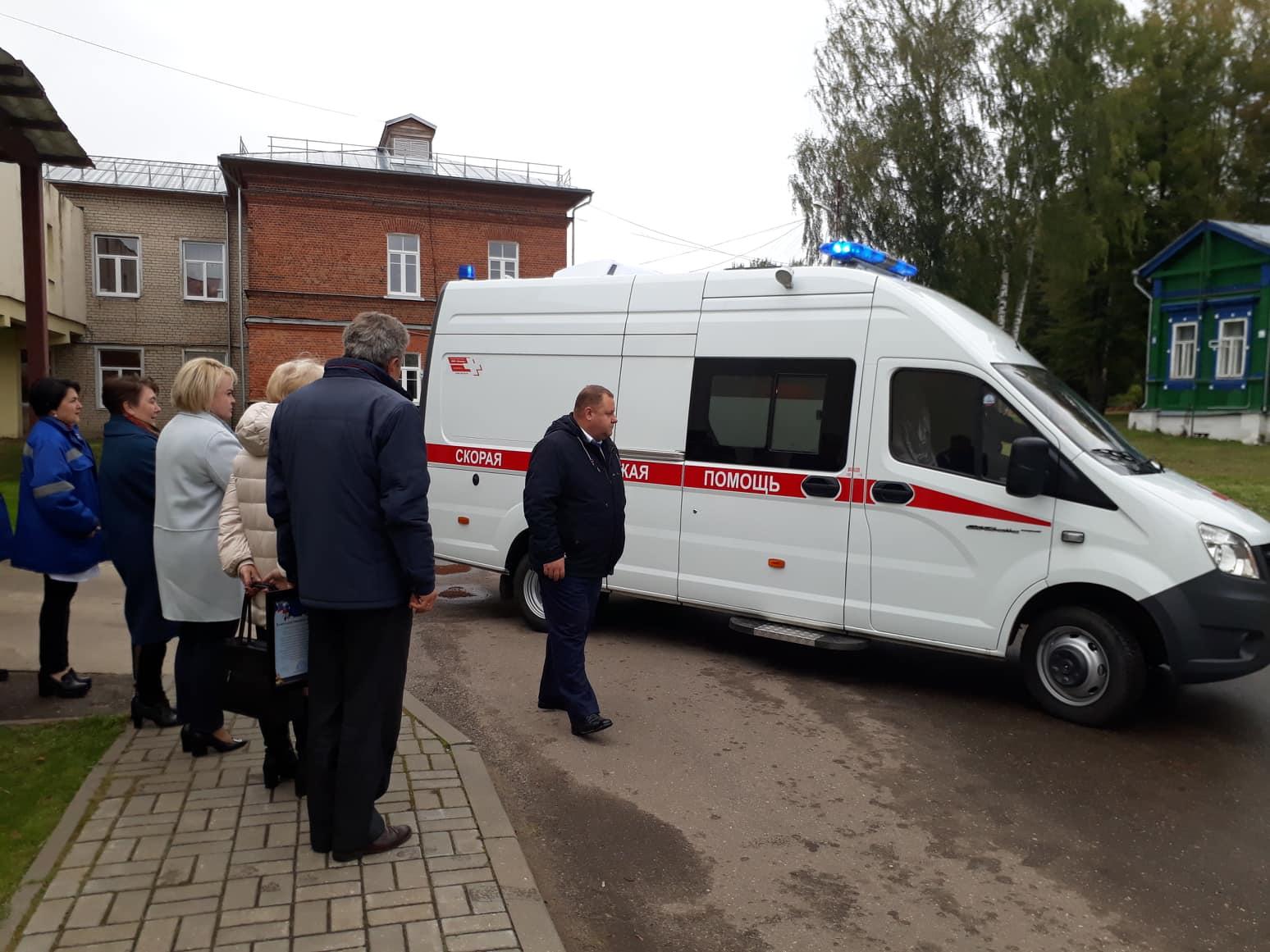 Некрасовская районная больница получила новый автомобиль скорой помощи