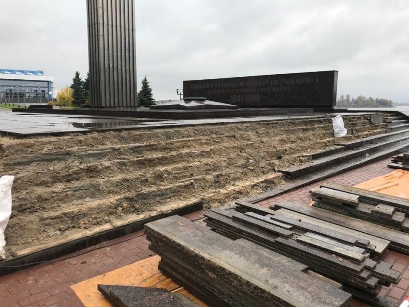 В Рыбинске до конца октября обновят мемориал «Огонь Славы»