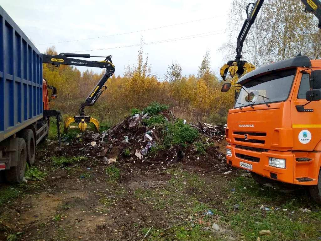 В Ярославском районе ликвидировали свалку объемом более 100 кубических метров