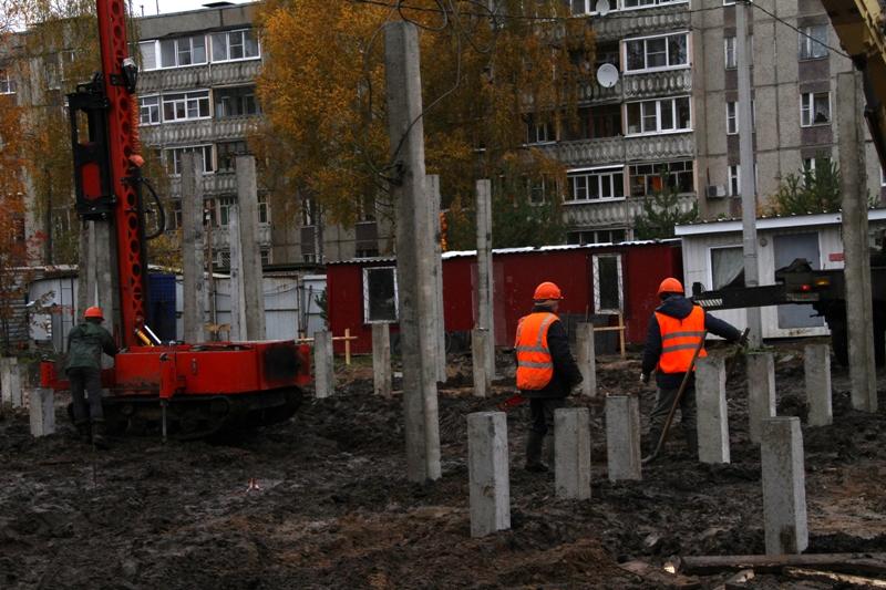 В Рыбинске началось строительство новых яслей