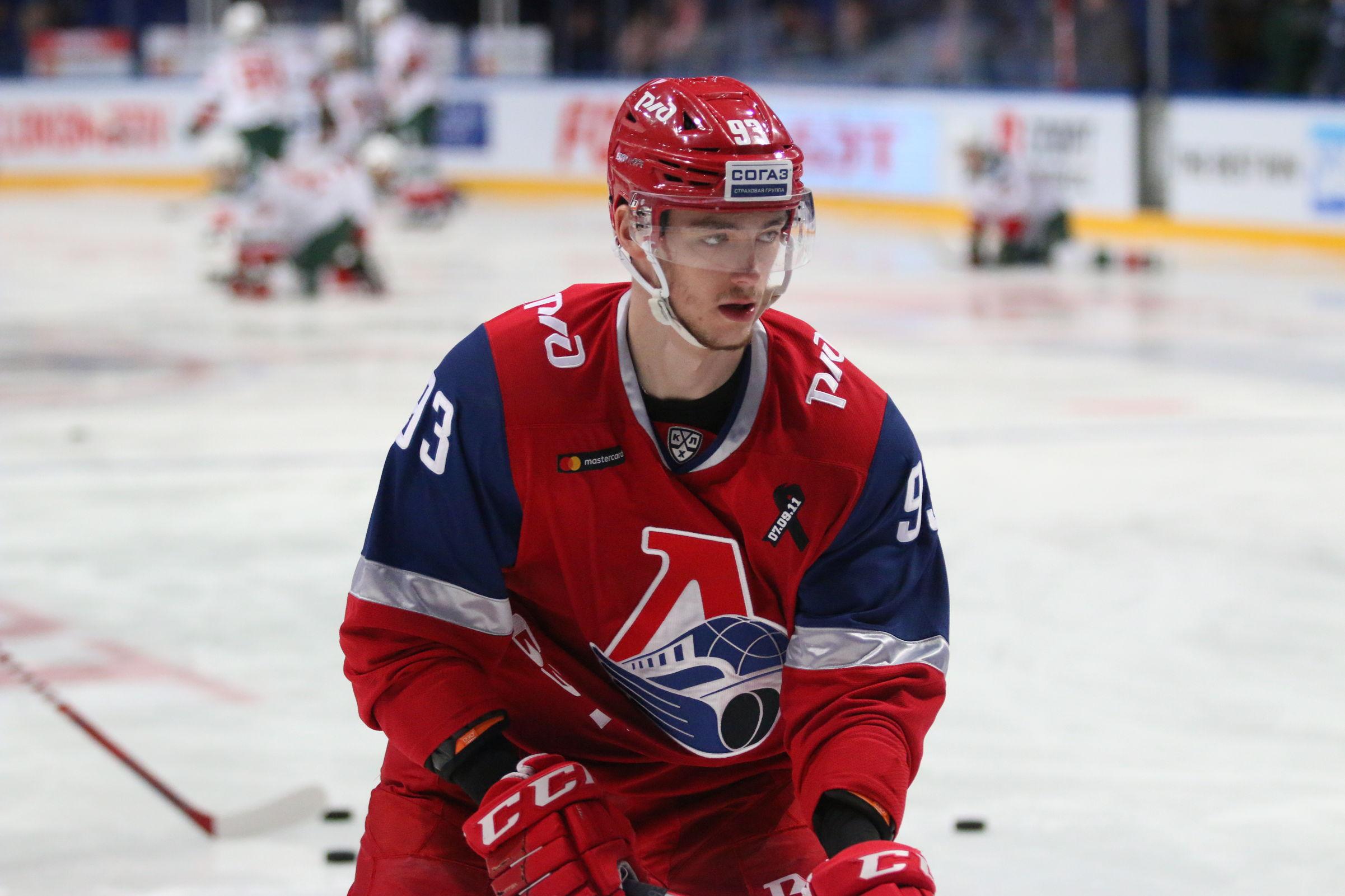 Молодой защитник «Локомотива» признан лучшим новичком недели в КХЛ