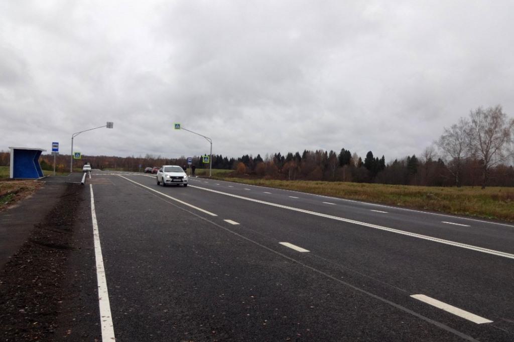 В Ярославской области завершили ремонт участка дороги Углич – Ростов