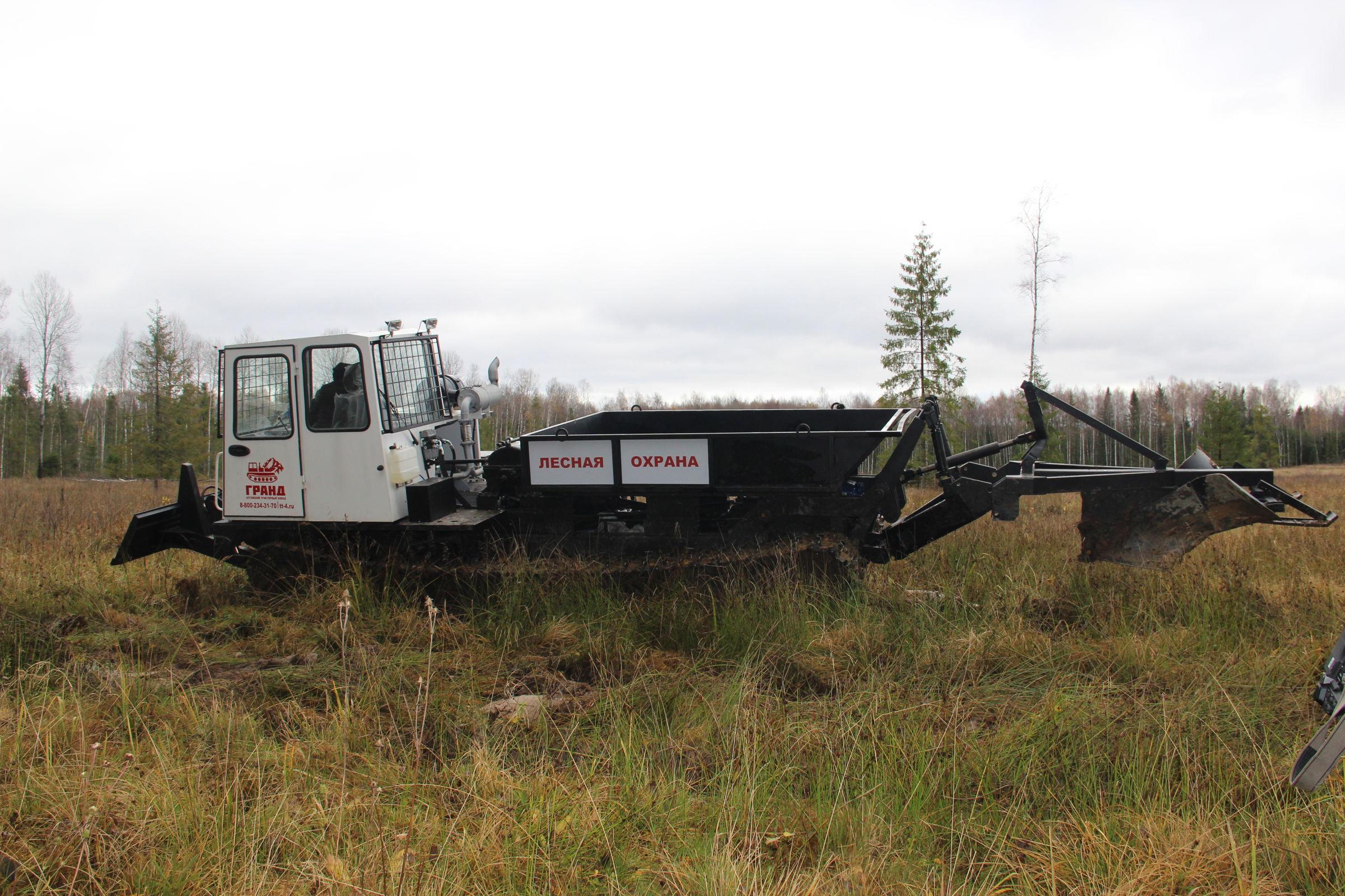 В Ярославской области при помощи новой спецтехники готовят почвы под лесовосстановление
