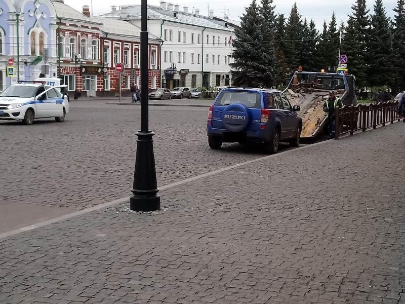В Рыбинске эвакуируют машины за неправильную парковку