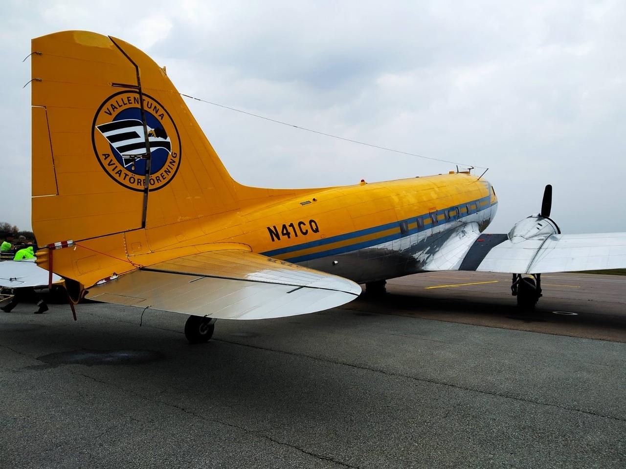 Американский самолет военных лет приземлился в ярославском аэропорту