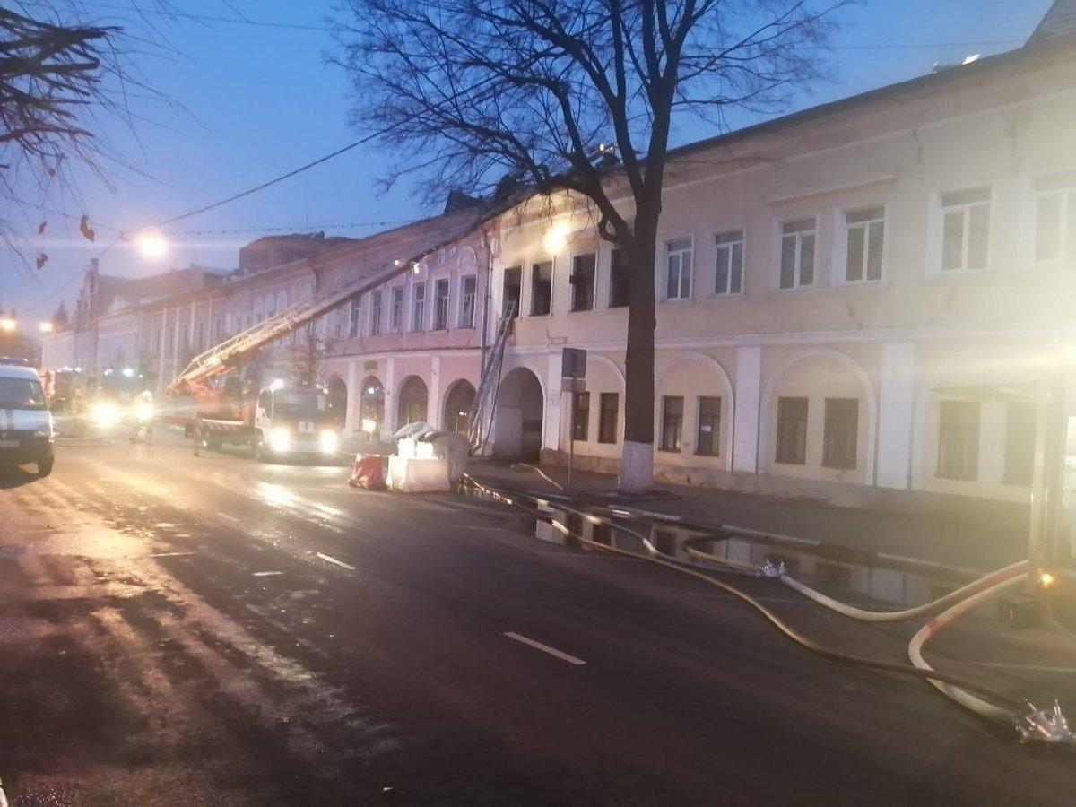 При тушении пожара в центре Ярославля нашли два трупа