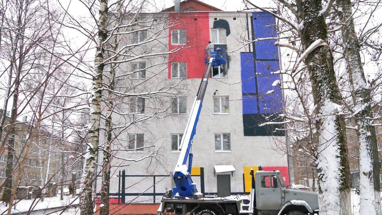 В Ярославле расписывают фасады студенческих общежитий