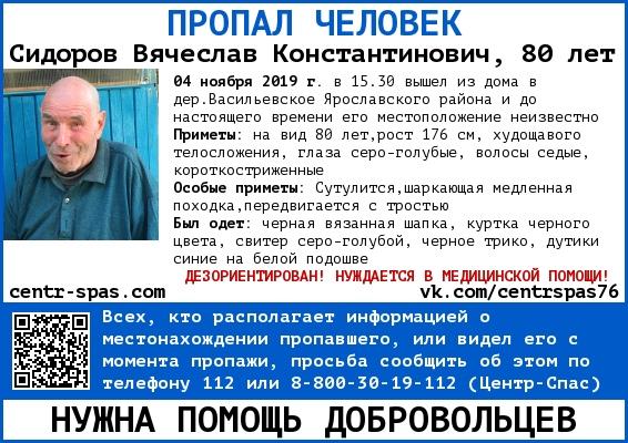 В Ярославской области ищут пенсионера с тростью