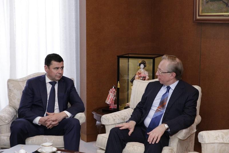 Дмитрий Миронов встретился с послом России в Японии Михаилом Галузиным