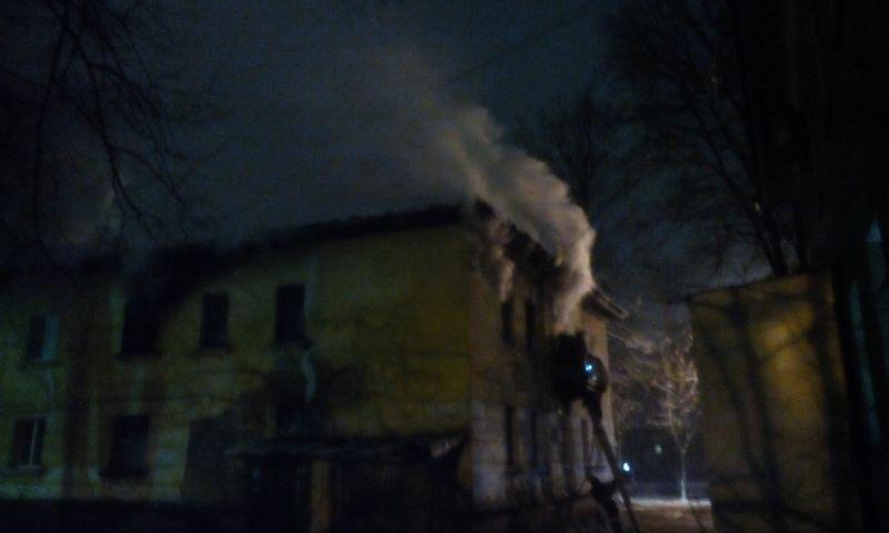 В Ярославле едва не выгорел дотла жилой дом: людей эвакуировали