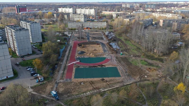 Строящийся стадион в Рыбинске оборудуют дополнительным водоотводом