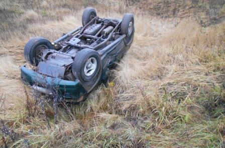 В Ярославской области в кювет перевернулась иномарка: водитель погиб