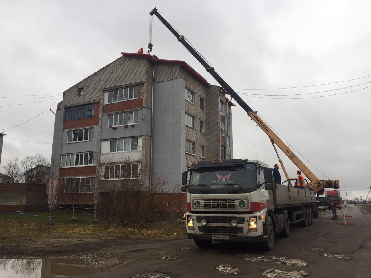 Кровли трех домов в Ярославской области, пострадавших от урагана, ремонтируют за счет фонда капремонта