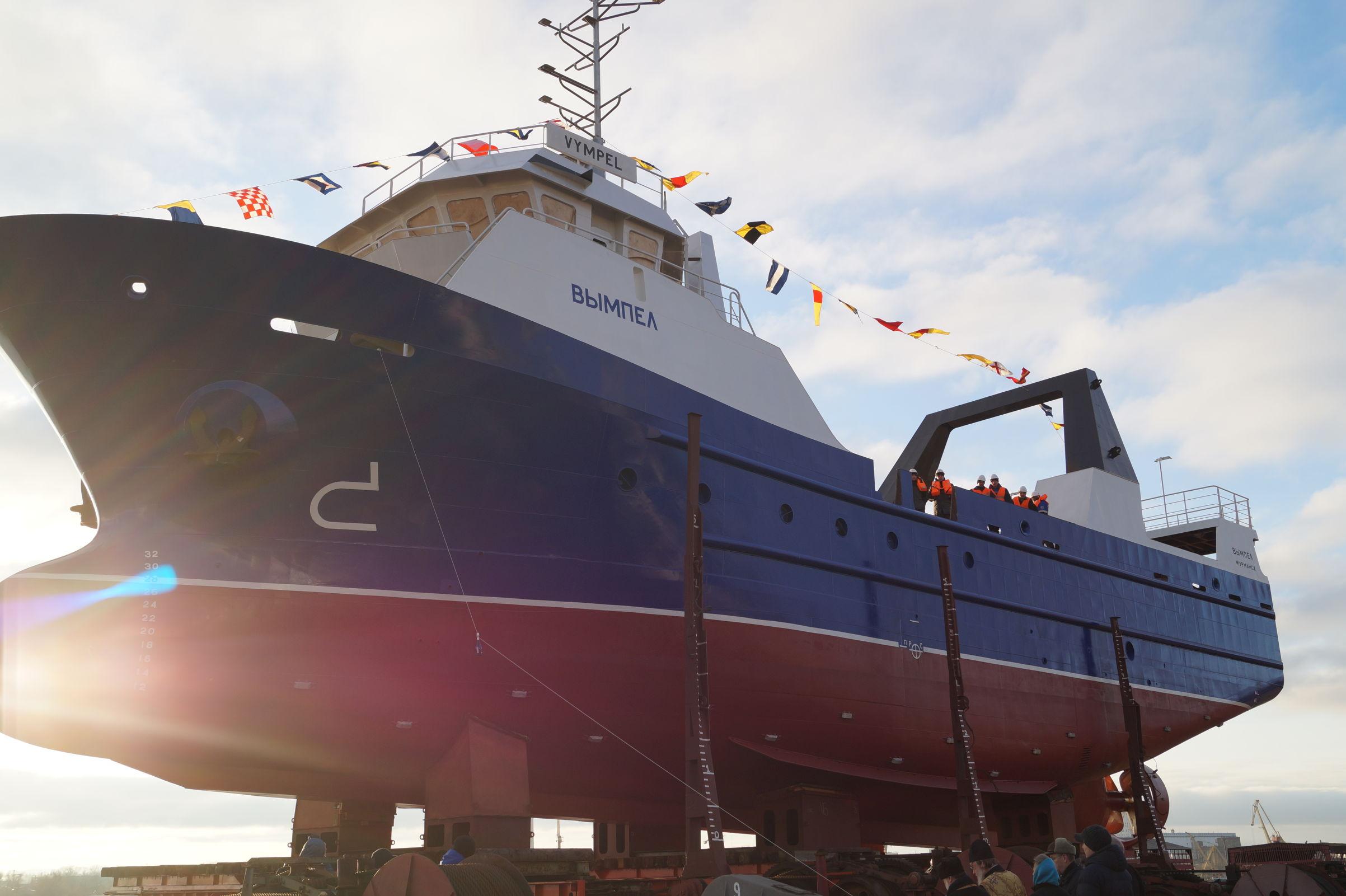 На выпущенном в Рыбинске траулере будут ловить треску в Баренцевом море