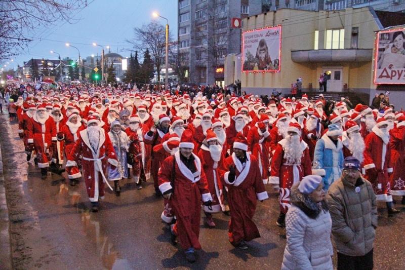 В Рыбинске в одиннадцатый раз пройдет шествие Дедов Морозов