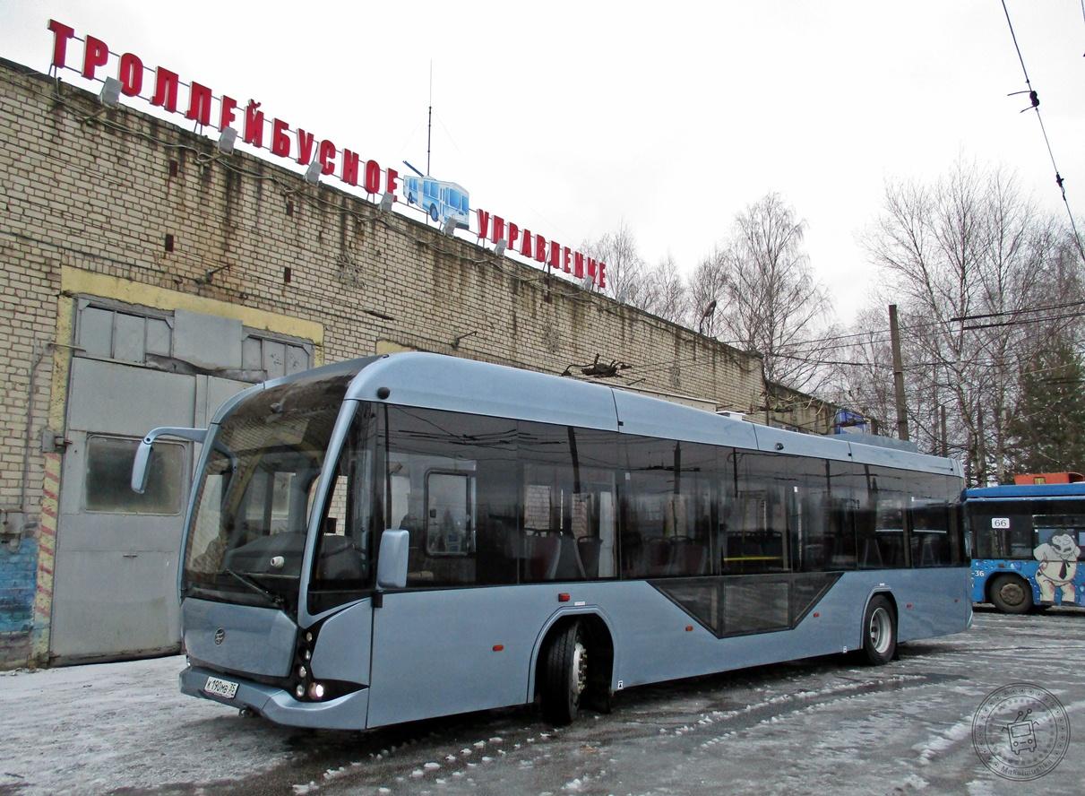 На улицы Рыбинска готовится выехать электробус вместимостью почти в сотню человек