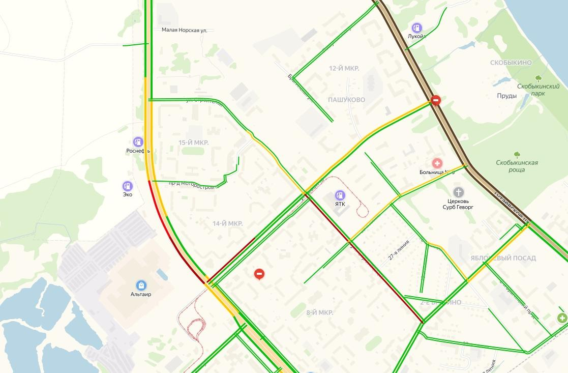 Пробки вернулись в Брагино: в каких местах образуется затор после перекрытия Тутаевского шоссе