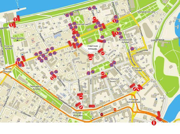 В новогодние праздники в Ярославле ограничат движение транспорта: схема