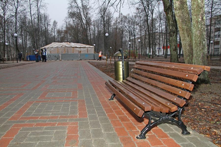 Парк в микрорайоне Волжский в Рыбинске открылся после ремонта