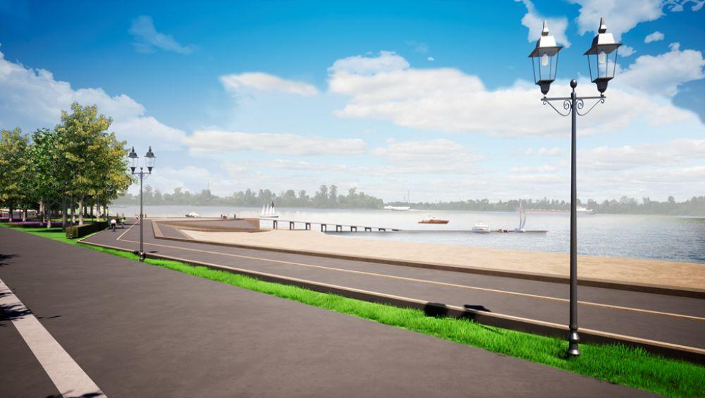 В Рыбинске между двумя дворцами укрепят берег Волги