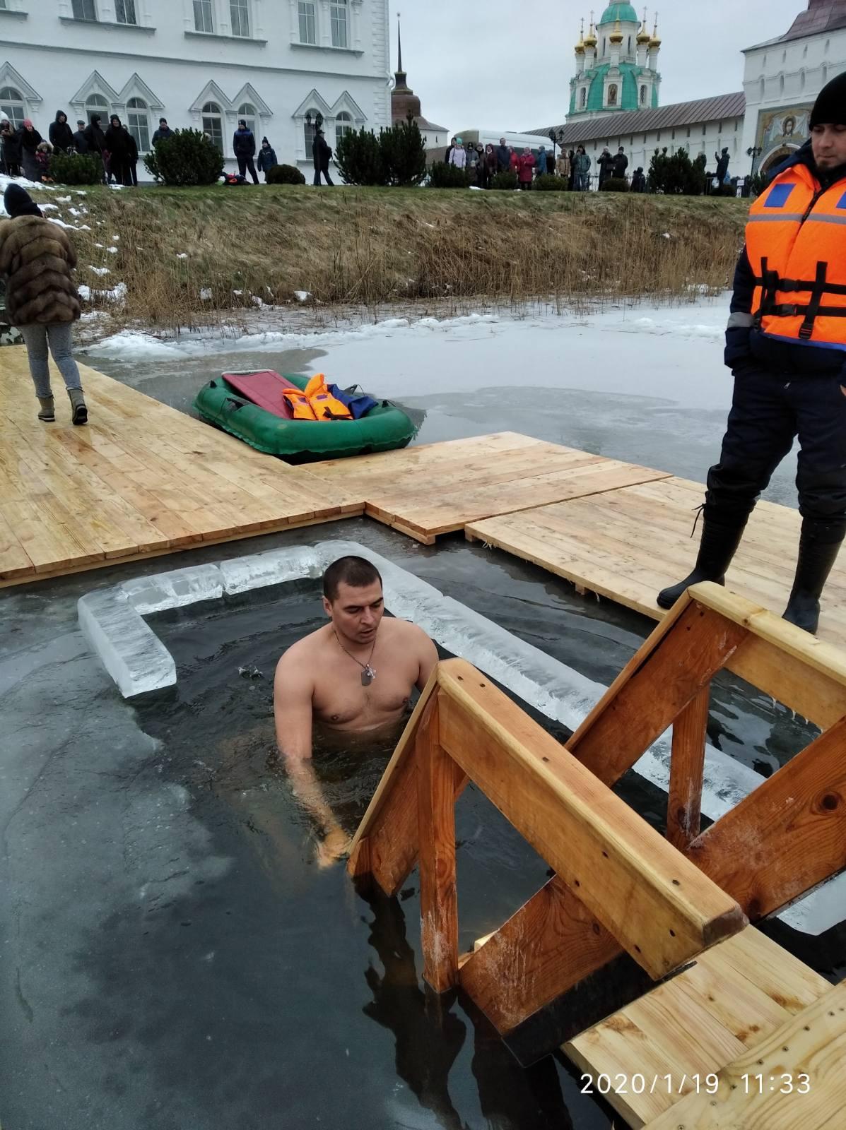 В Ярославской области в Крещение купели посетили почти 11 тысяч православных: фото