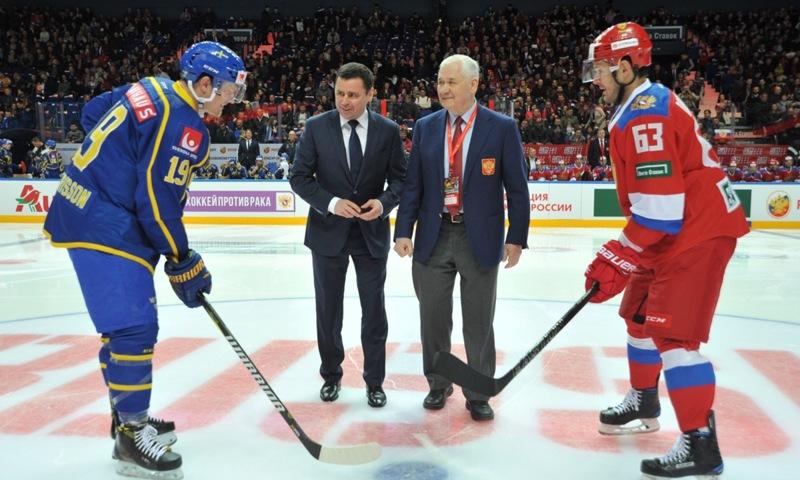 Дмитрий Миронов: на льду «Арены-2000» пройдет вынесенный матч между сборными России и Швеции