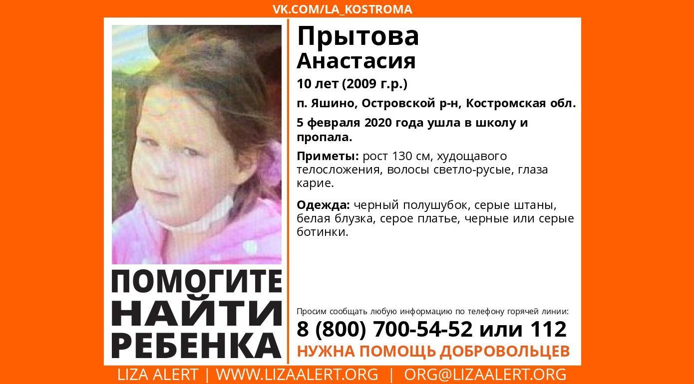 В Ярославской области ищут 10-летнюю девочку