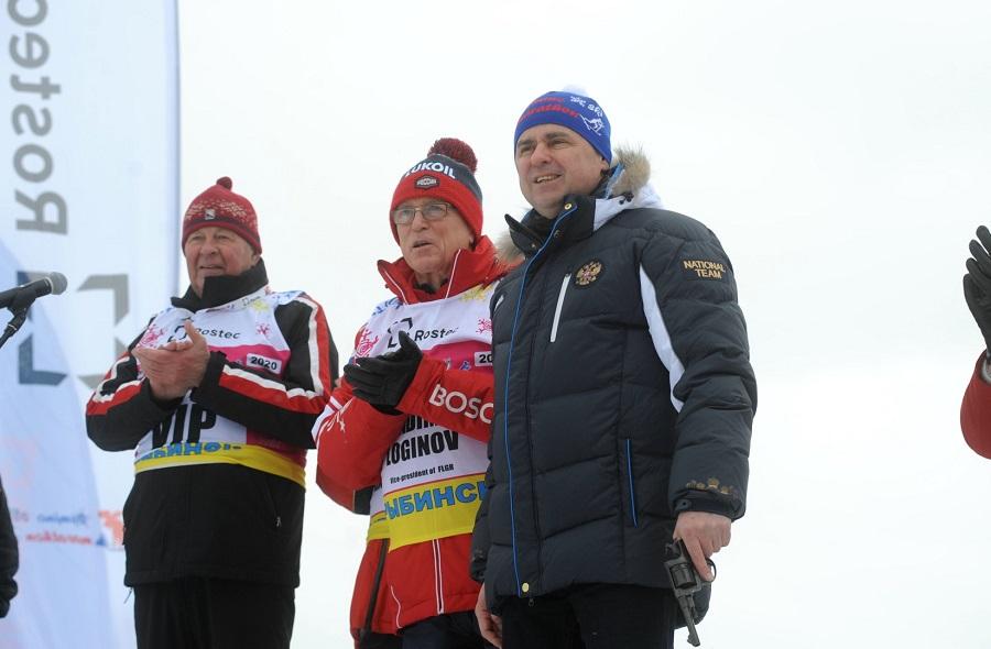 Дмитрий Миронов открыл международный Деминский лыжный марафон под Рыбинском