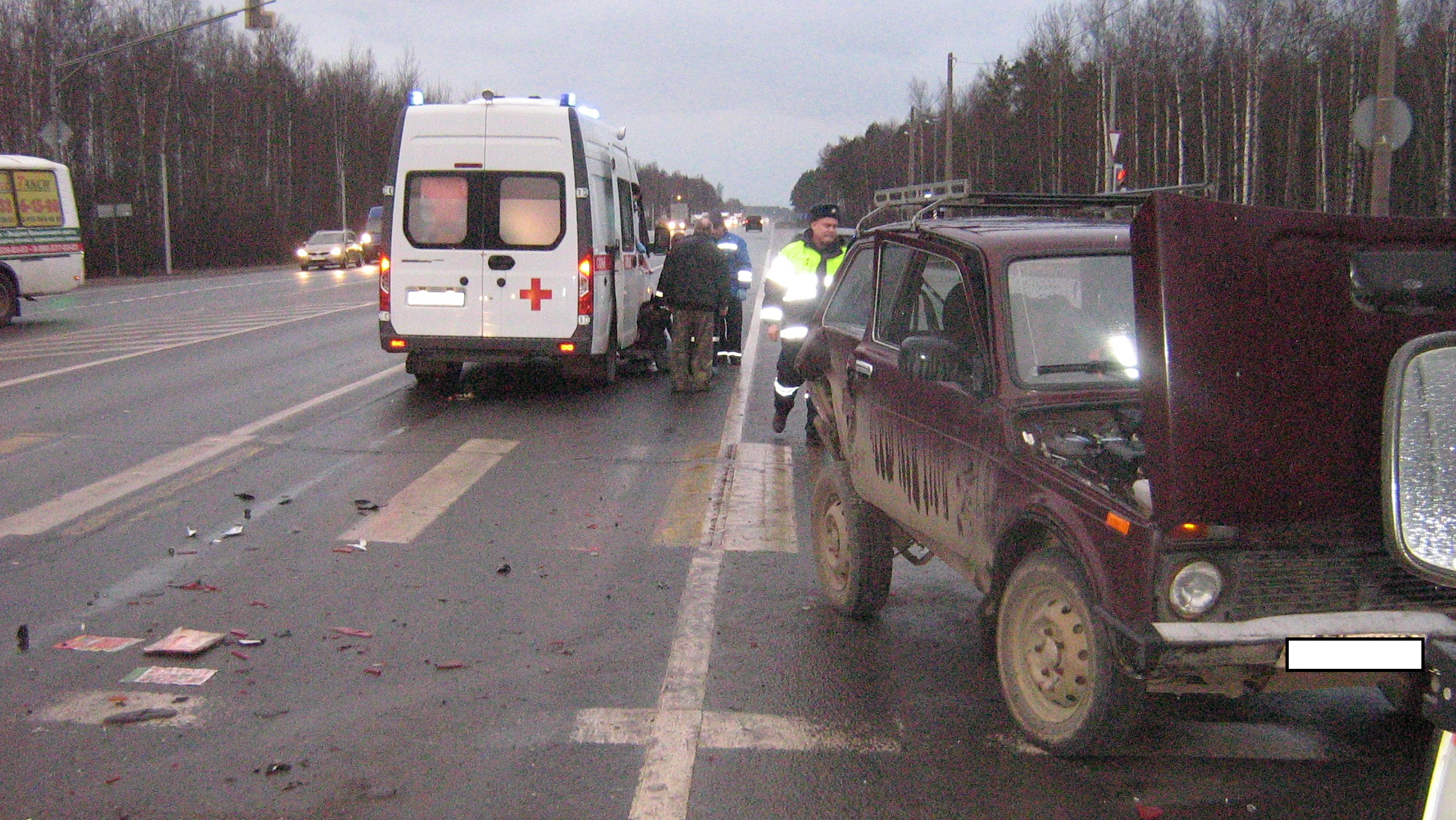 В тройном ДТП в Ярославской области пострадали пять человек