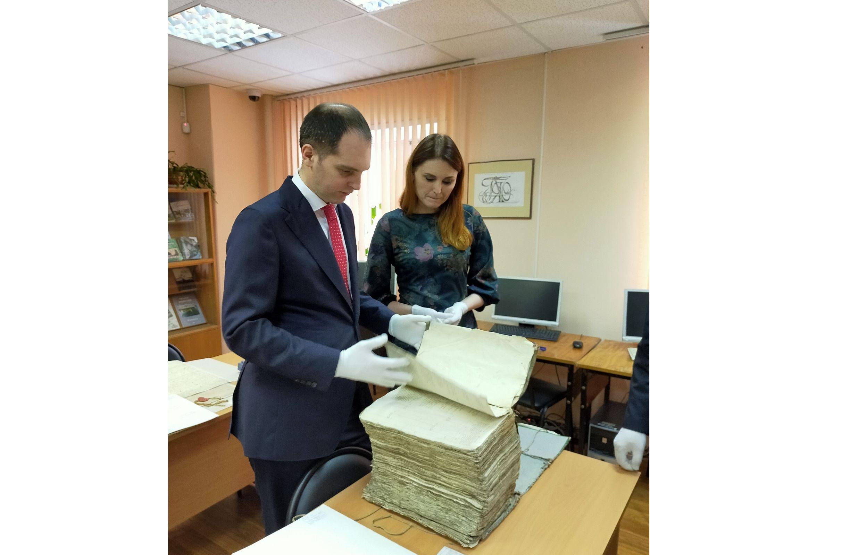 Государственный архив Ярославской области занимает второе место в ЦФО по объему хранящихся документов