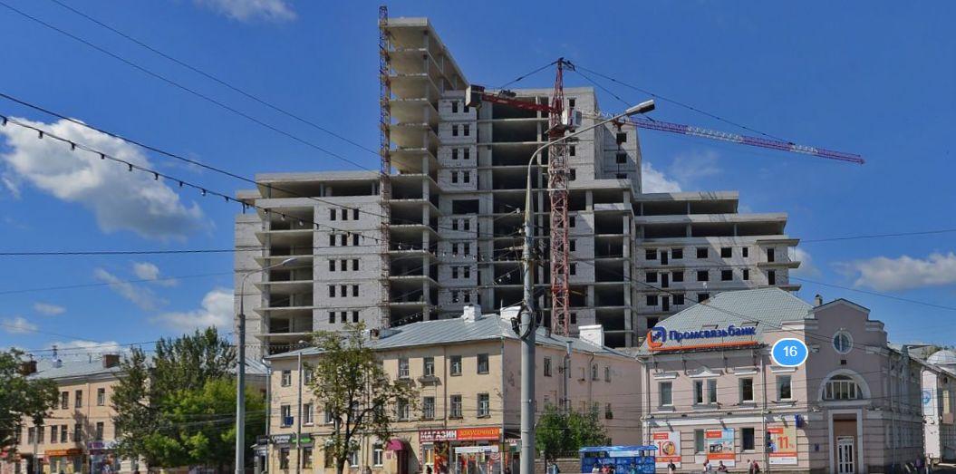 В Ярославле планируют завершить возведение долгостроя на Октябрьской площади