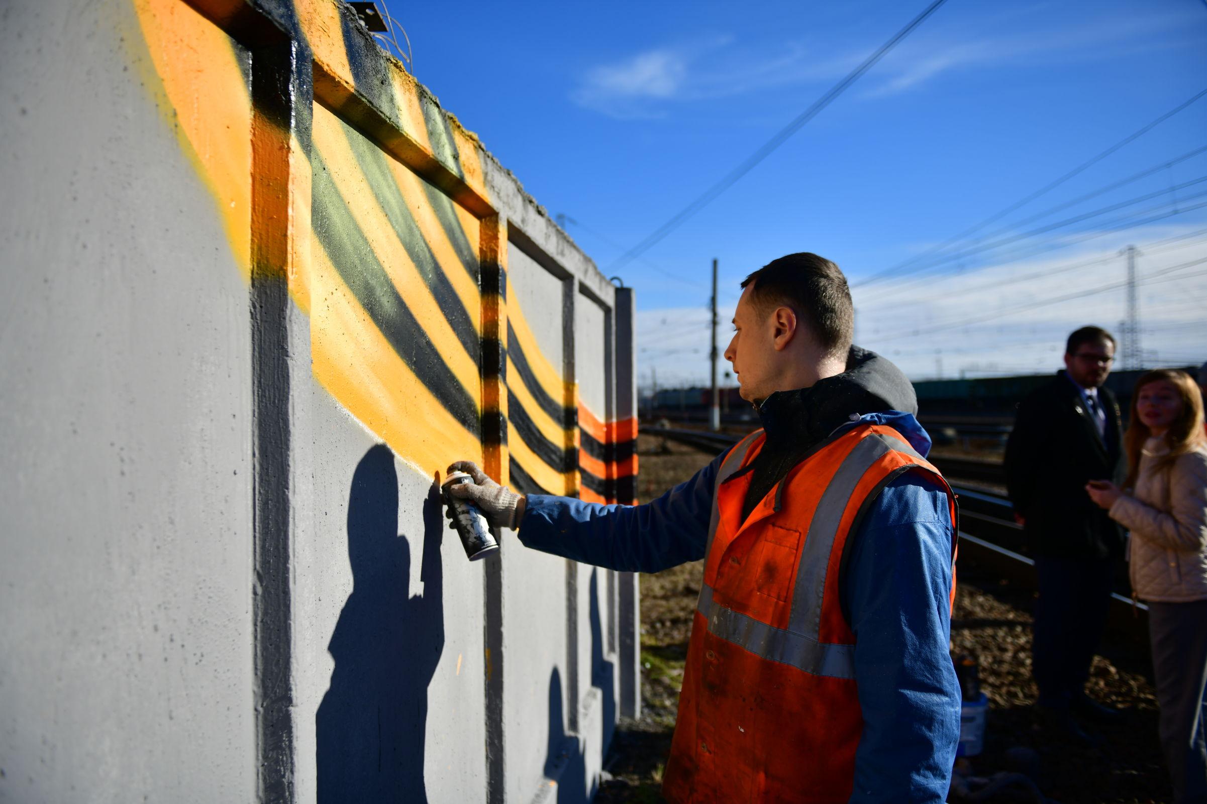 У Ярославля-Главного появится 50-метровое граффити к 75-летию Победы