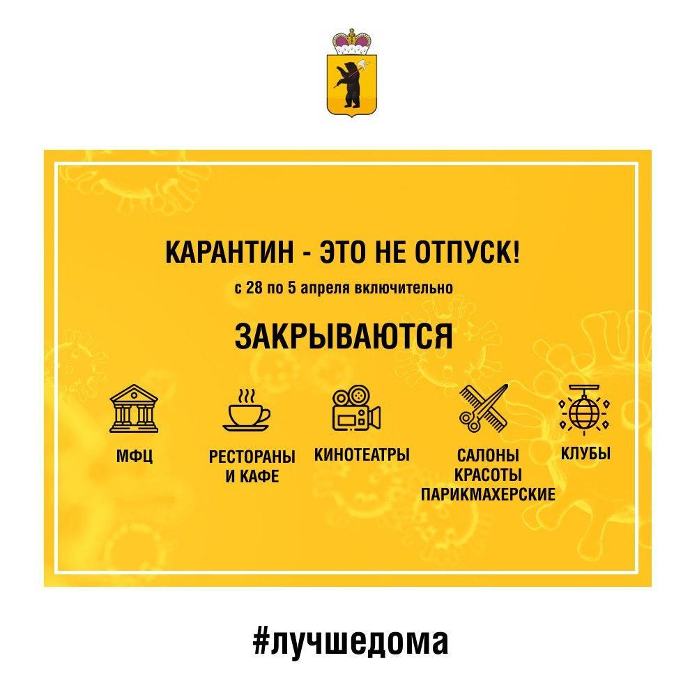 В Ярославле на длинные выходные закроют рестораны, МФЦ и ночные клубы