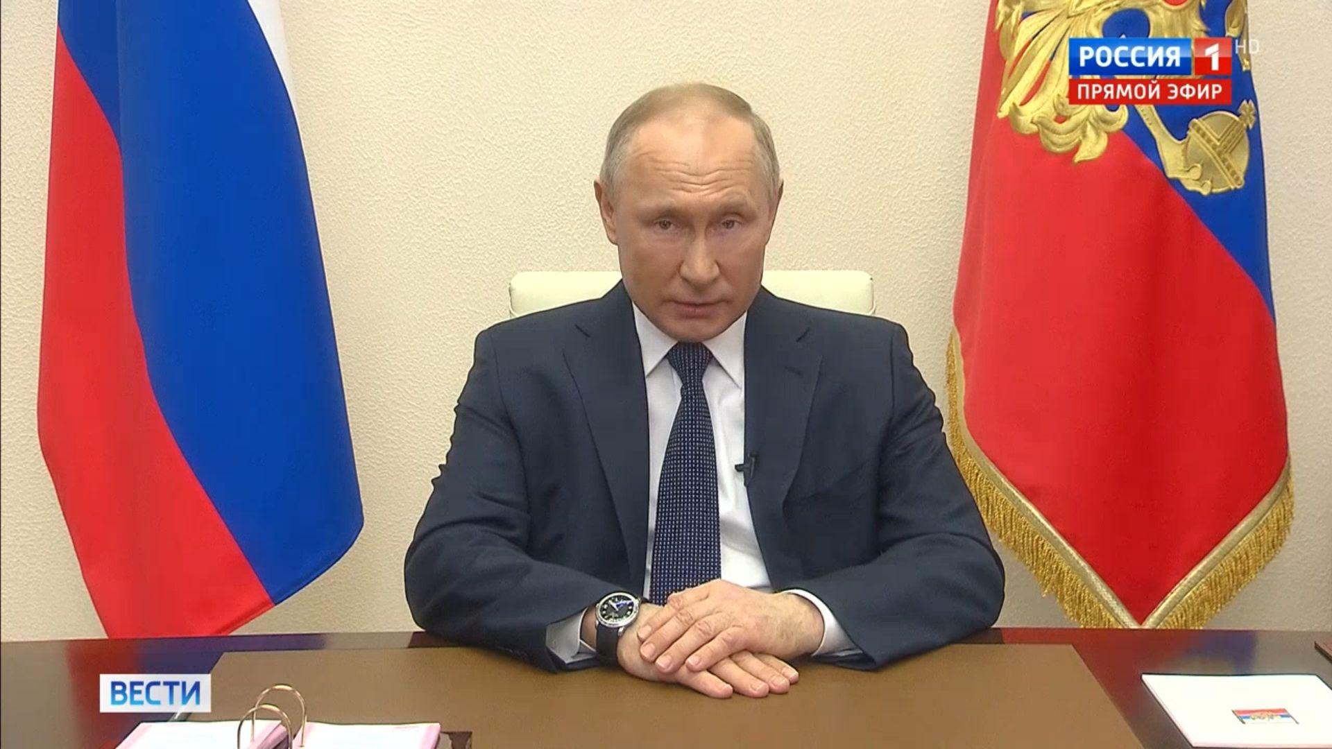 Владимир Путин продлил режим нерабочих дней в России до 30 апреля