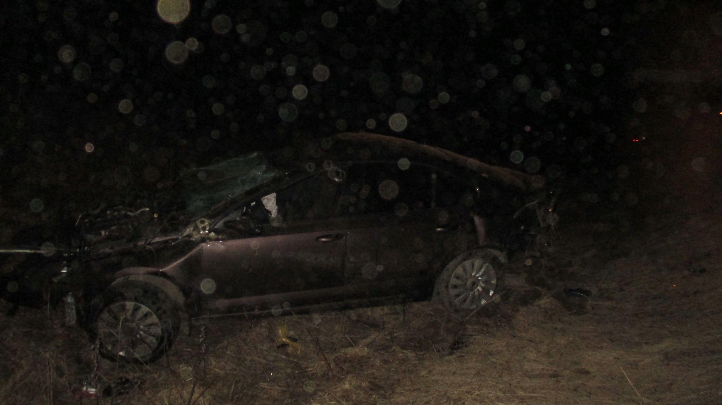 В Ярославской области иномарка перевернулась в кювет: пострадал водитель