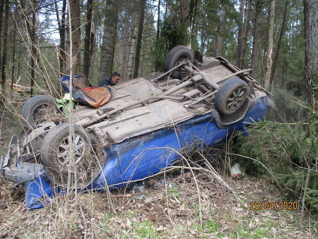 В Ярославской области ВАЗ перевернулся в кювет: пострадал водитель