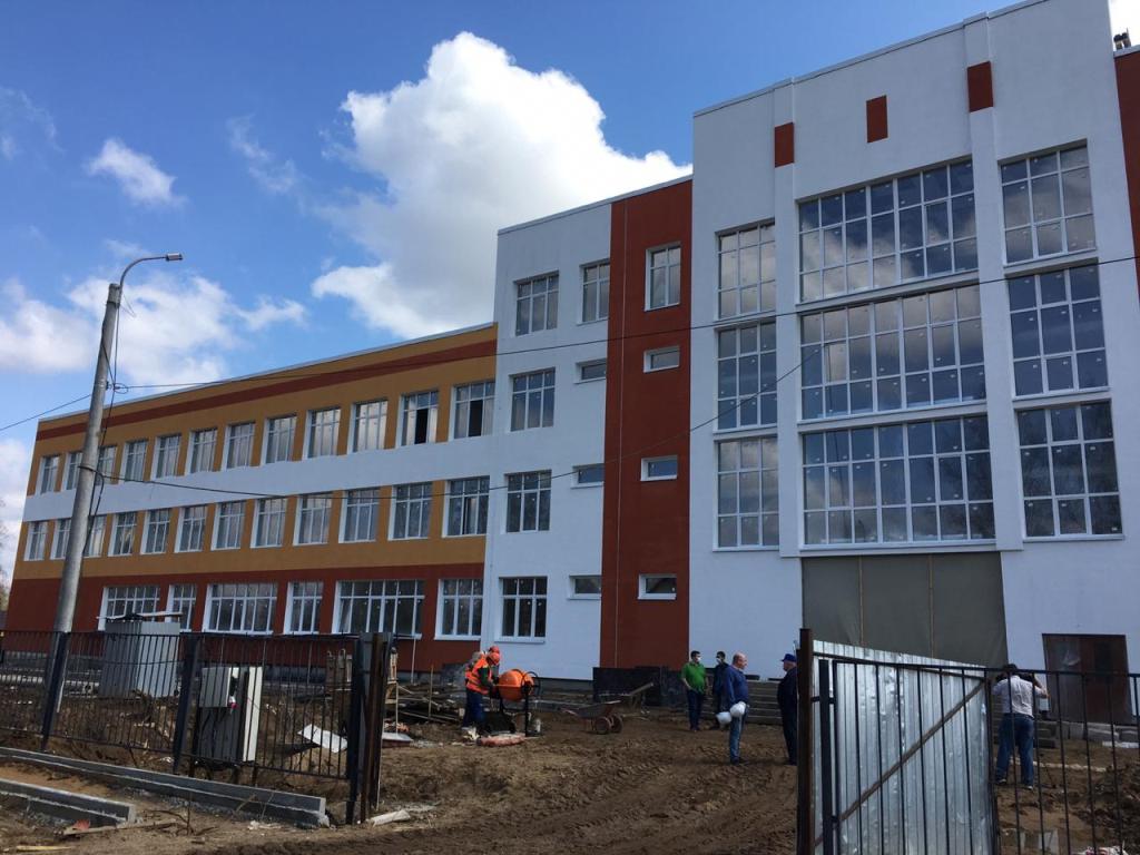 Новая общеобразовательная школа в Рыбинске готова на 70 процентов