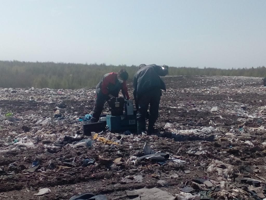 На полигоне «Скоково» ведется регулярный мониторинг состояния воздуха, воды и почвы