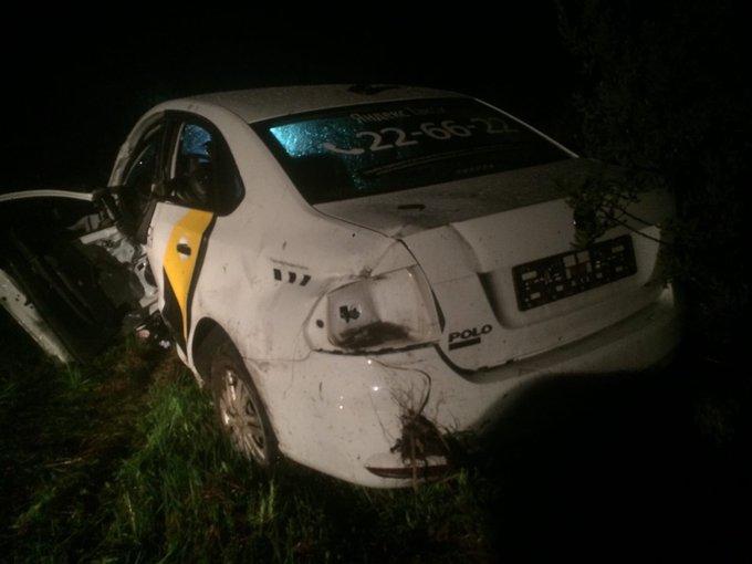 В Ярославской области в аварии с такси пострадал водитель