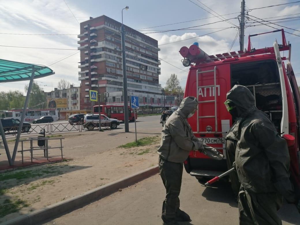 В Ярославле сотрудники МЧС продезинфицировали станцию переливания крови
