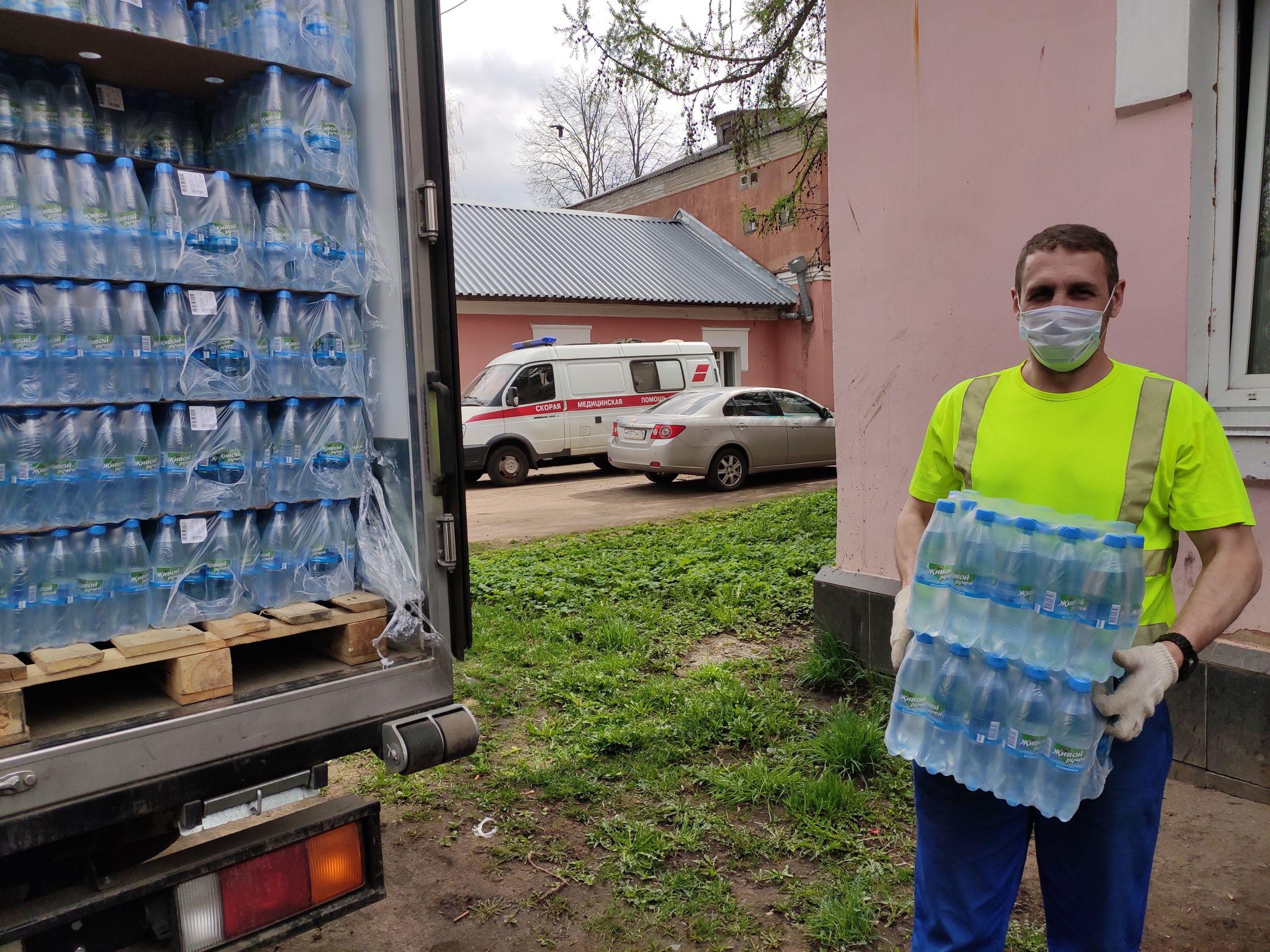 «Пивзавод «Ярпиво» передал 27 тысяч бутылок питьевой воды в больницы Ярославля и Ярославской области