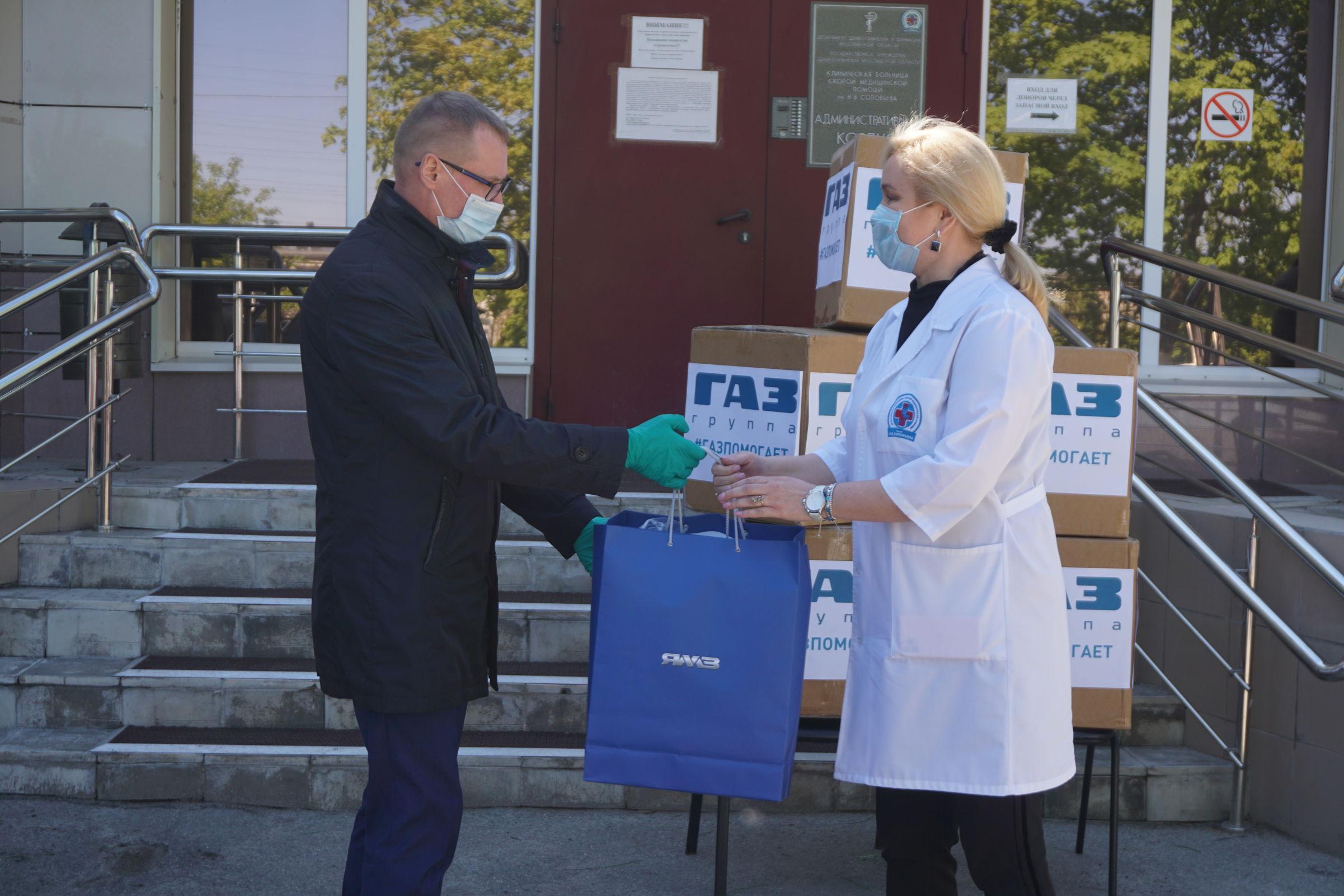 15 тысяч масок передал медицинским и социальным учреждениям региона Ярославский моторный завод
