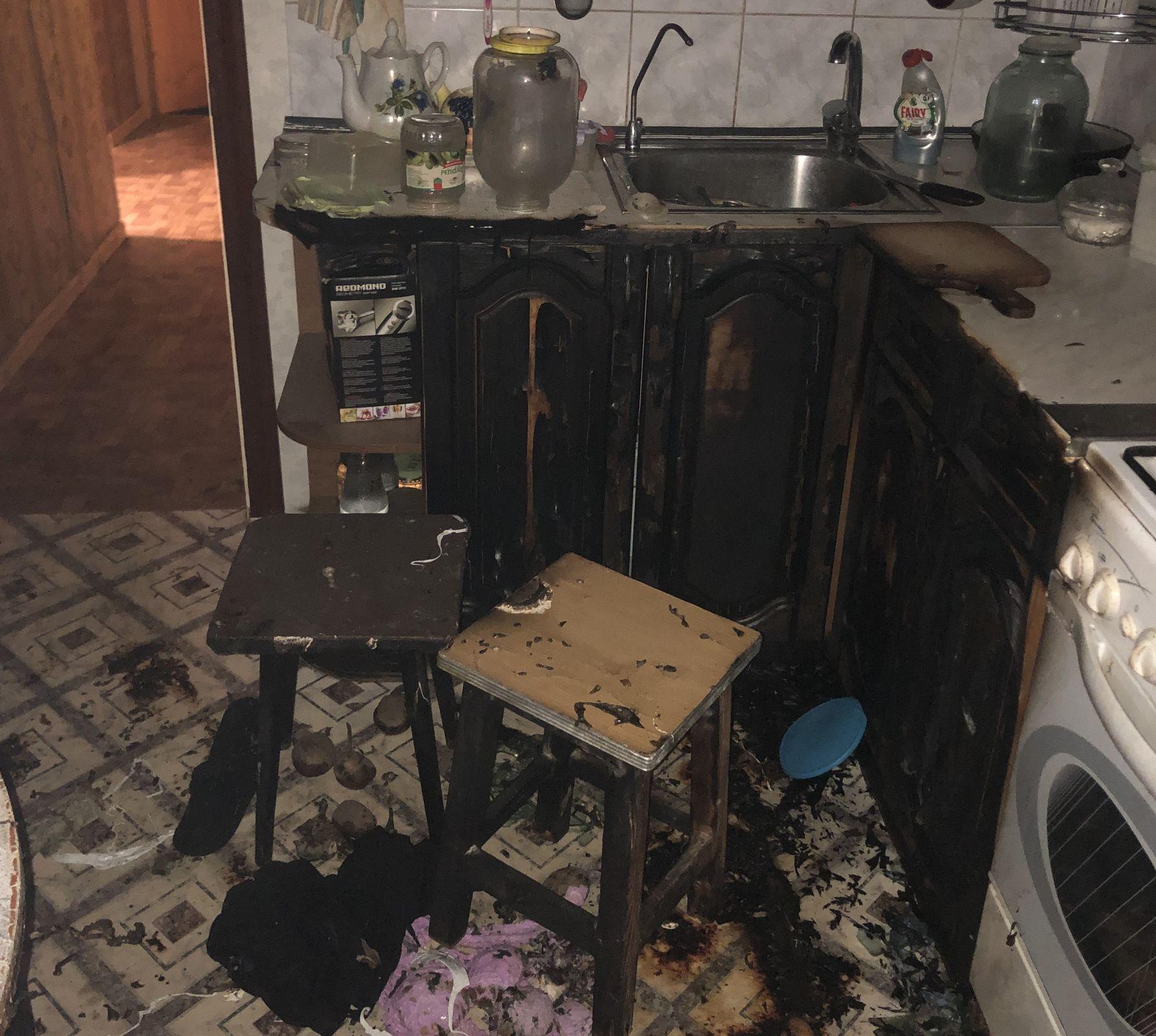В Рыбинске при пожаре в жилом доме пострадал мужчина