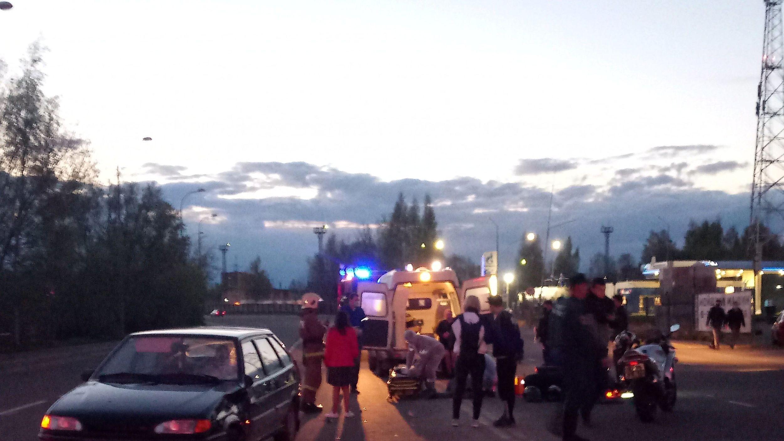В Рыбинске мотоциклист пострадал после столкновения с легковушкой