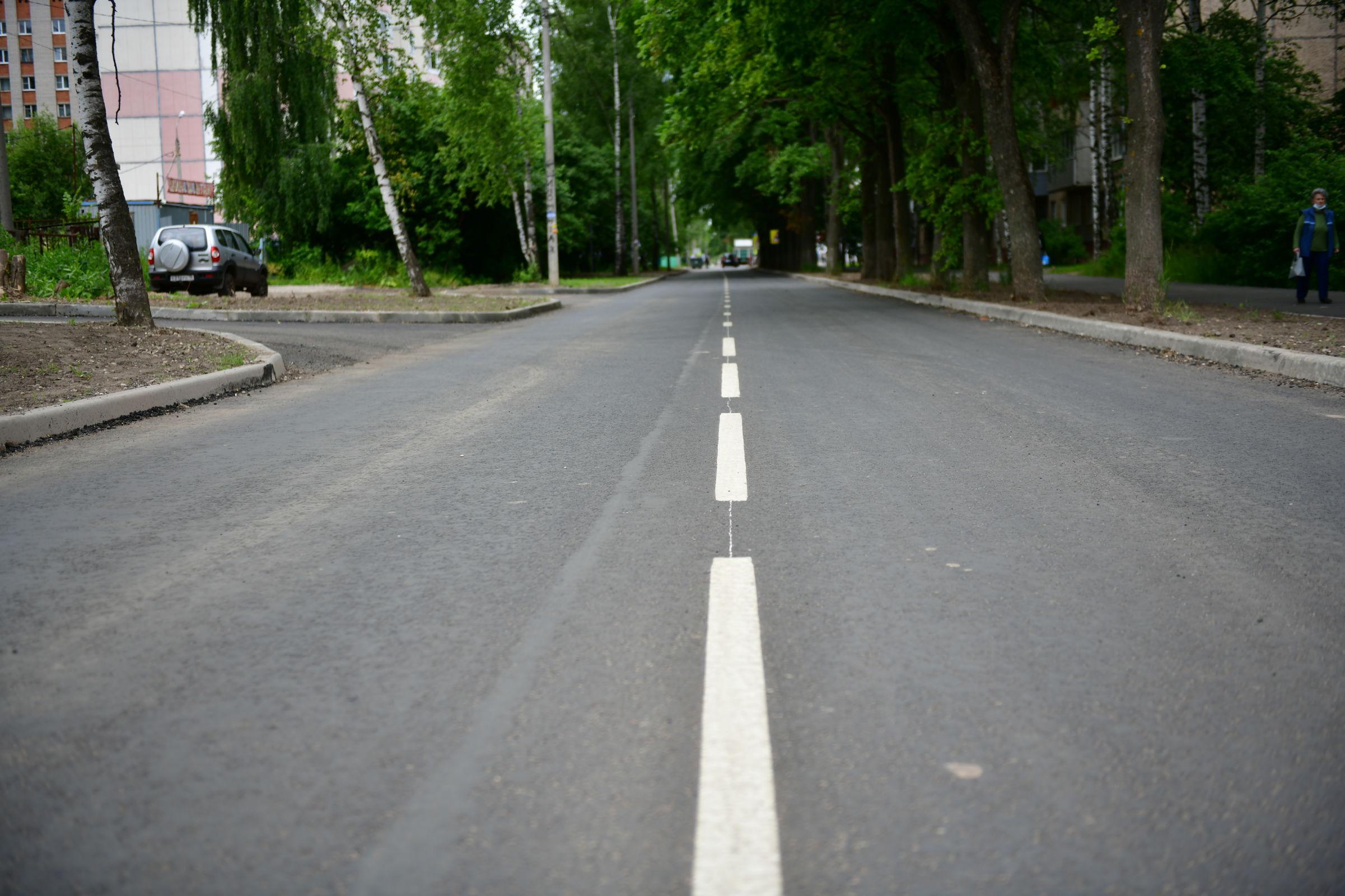 В Ярославле завершили реконструкцию улицы Туманова в Брагине