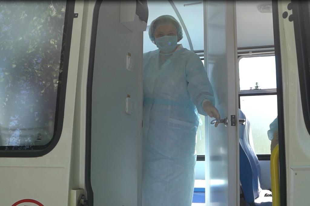 Бригада мобильного ФАПа Переславской ЦРБ провела осмотр пациентов в селе Новом