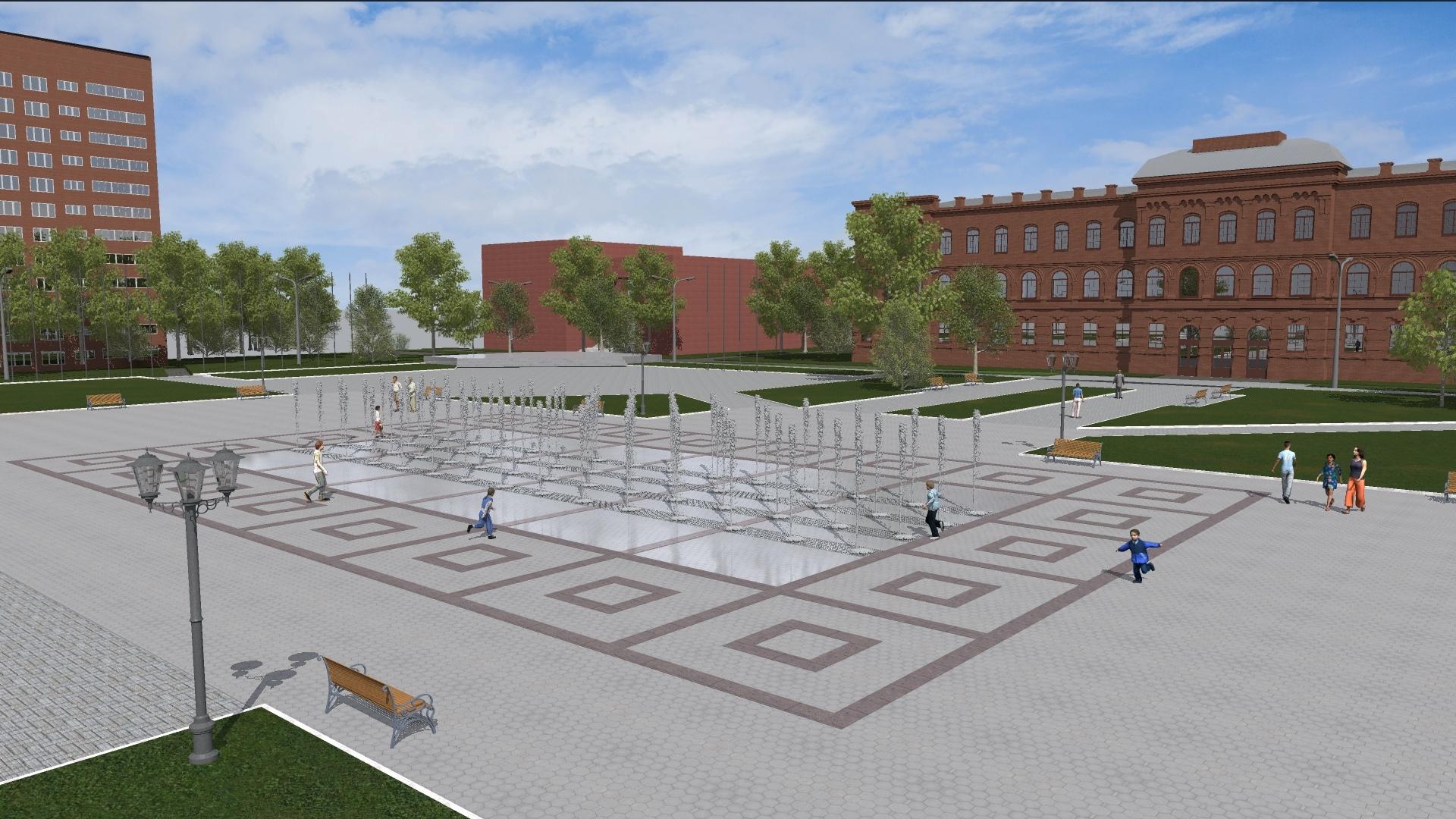В Рыбинске благоустроят площадь имени Дерунова