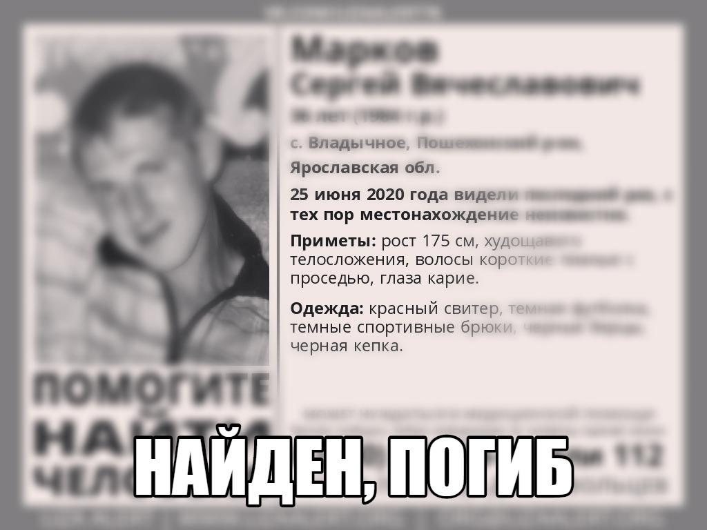 Пропавший в Ярославской области мужчина найден мертвым